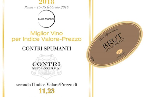 "F""BEST QUALITY-PRICE RATIO WINE"" by Luca Maroni"